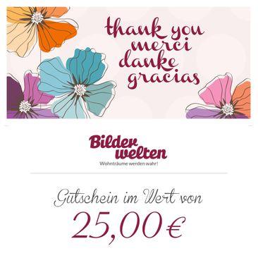 Produktfoto Geschenkgutschein - Danke 25 Euro