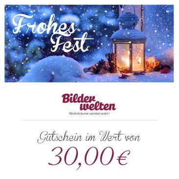 Produktfoto Geschenkgutschein - Frohes Fest 30 Euro