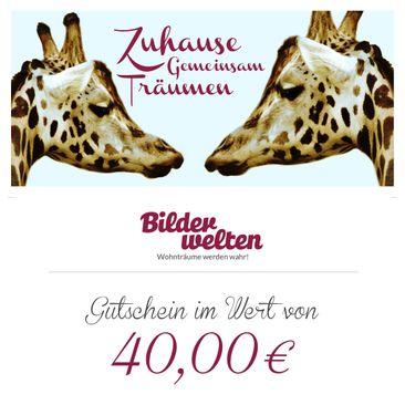 Produktfoto Geschenkgutschein - Gemeinsam Zuhause 40 Euro