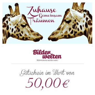 Produktfoto Geschenkgutschein - Gemeinsam Zuhause 50 Euro