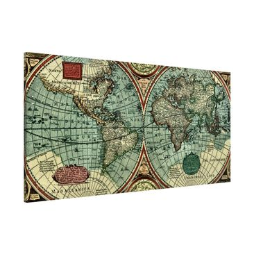 Product picture Magnetic Board - Worldmap Old World -...