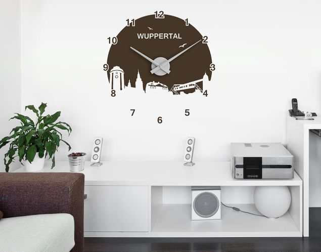 wandtattoo skyline uhr no rs170 wuppertal. Black Bedroom Furniture Sets. Home Design Ideas