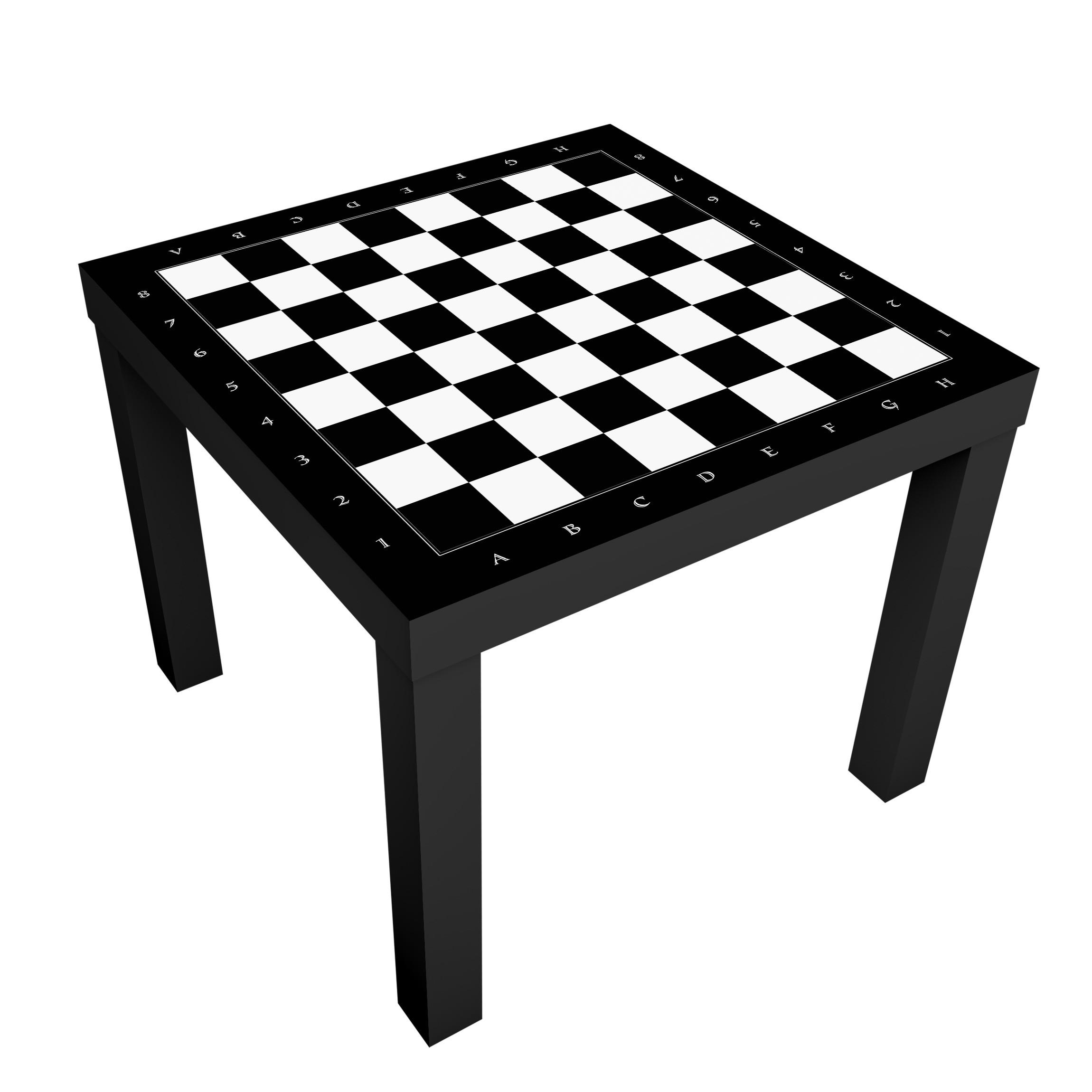Beistelltisch No Yk41 Schachbrett Tisch Schwarz Wei