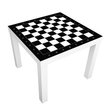 Produktfoto Beistelltisch - No.YK41 Schachbrett - Tisch Schwarz Weiß