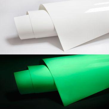 Produktfoto Selbstklebende Folie - Leuchtfolie - Nachleuchtende fluoreszierende Klebefolie