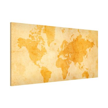Product picture Magnetic Board - Vintage World Map -...