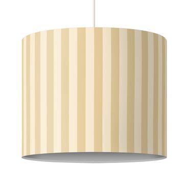 Produktfoto Kinderlampe No.YK46 Streifen Gelb Beige - Lampe - Lampenschirm Gelb