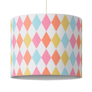 Produktfoto Kinderlampe Rauten Bunt - Lampe - Lampenschirm Bunt