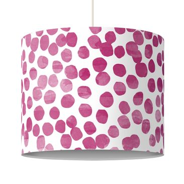 Product picture Pendant Lamp - Dot pattern Pink Purple -...