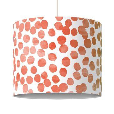 Produktfoto Pendelleuchte Punktemuster Orange Grau - Lampe - Lampenschirm Punkte Hängeleuchte