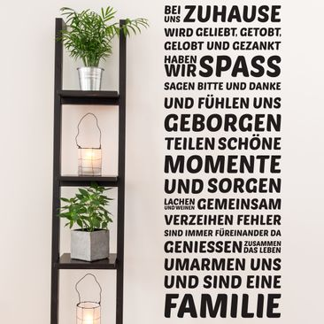 Product picture Wall Decal - Bei uns Zuhause - Wall...