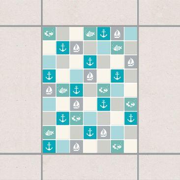 Immagine del prodotto Adesivo per piastrelle - Mosaic Tiles no.YK68 Maritime Turquoise Blue Gray 20cm x 15cm