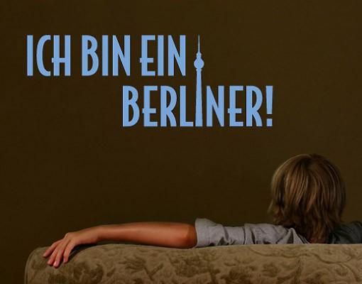 Produktfoto Wandtattoo Zitate - Wandzitate - No.SF254 - Ich bin ein Berliner Wandtattoo