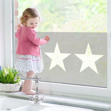 Product picture Window Mural Large white stars on grey