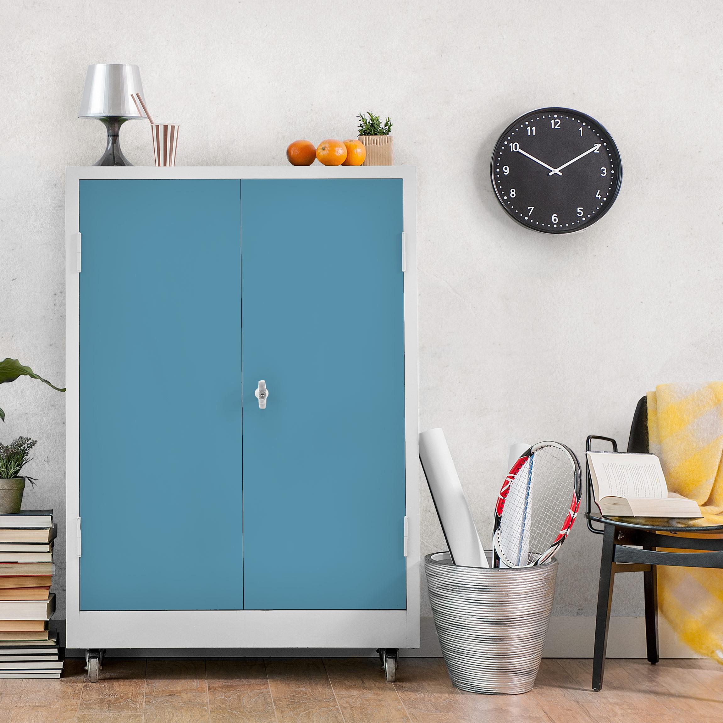 m belfolie blau grau einfarbig meerblau klebefolie f r. Black Bedroom Furniture Sets. Home Design Ideas