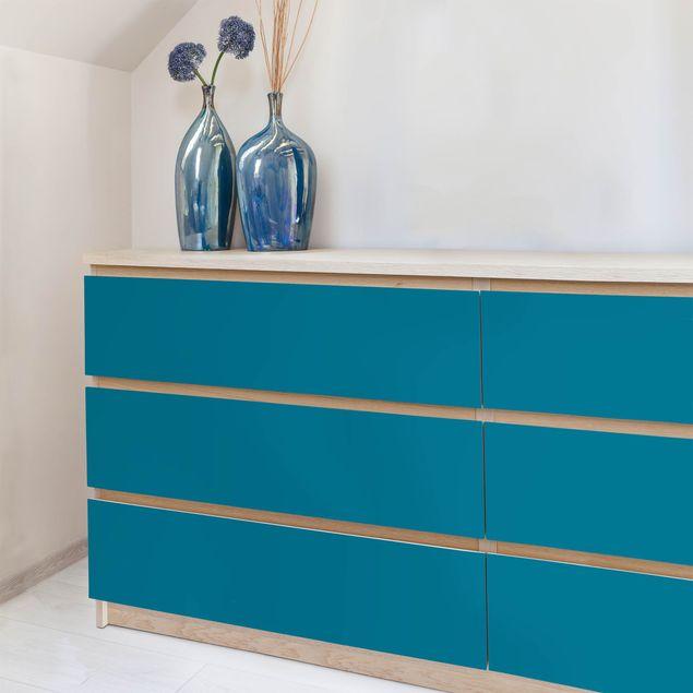 Produktfoto Möbelfolie Petrol einfarbig - Klebefolie Möbel türkis-blau dunkel - selbstklebend