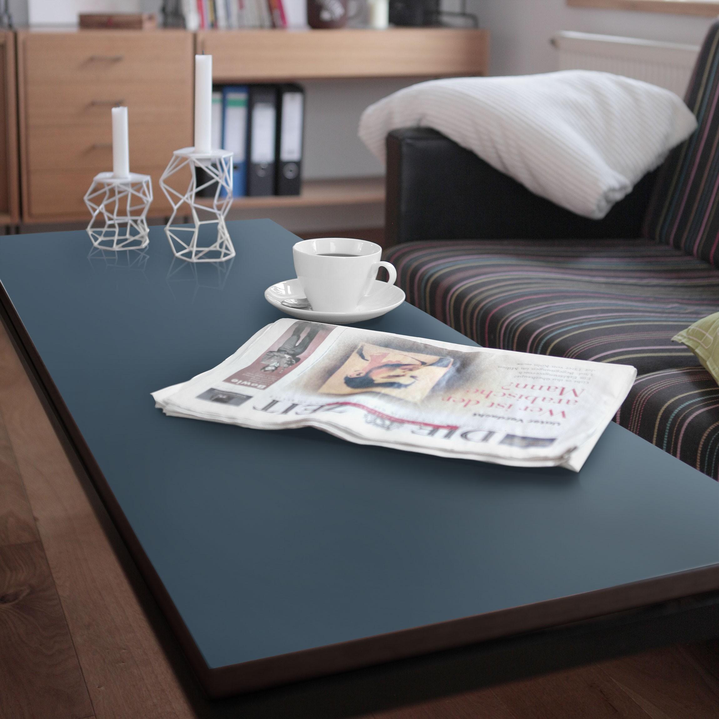 Carta adesiva per mobili colour slate blue - Carta per ricoprire mobili ...