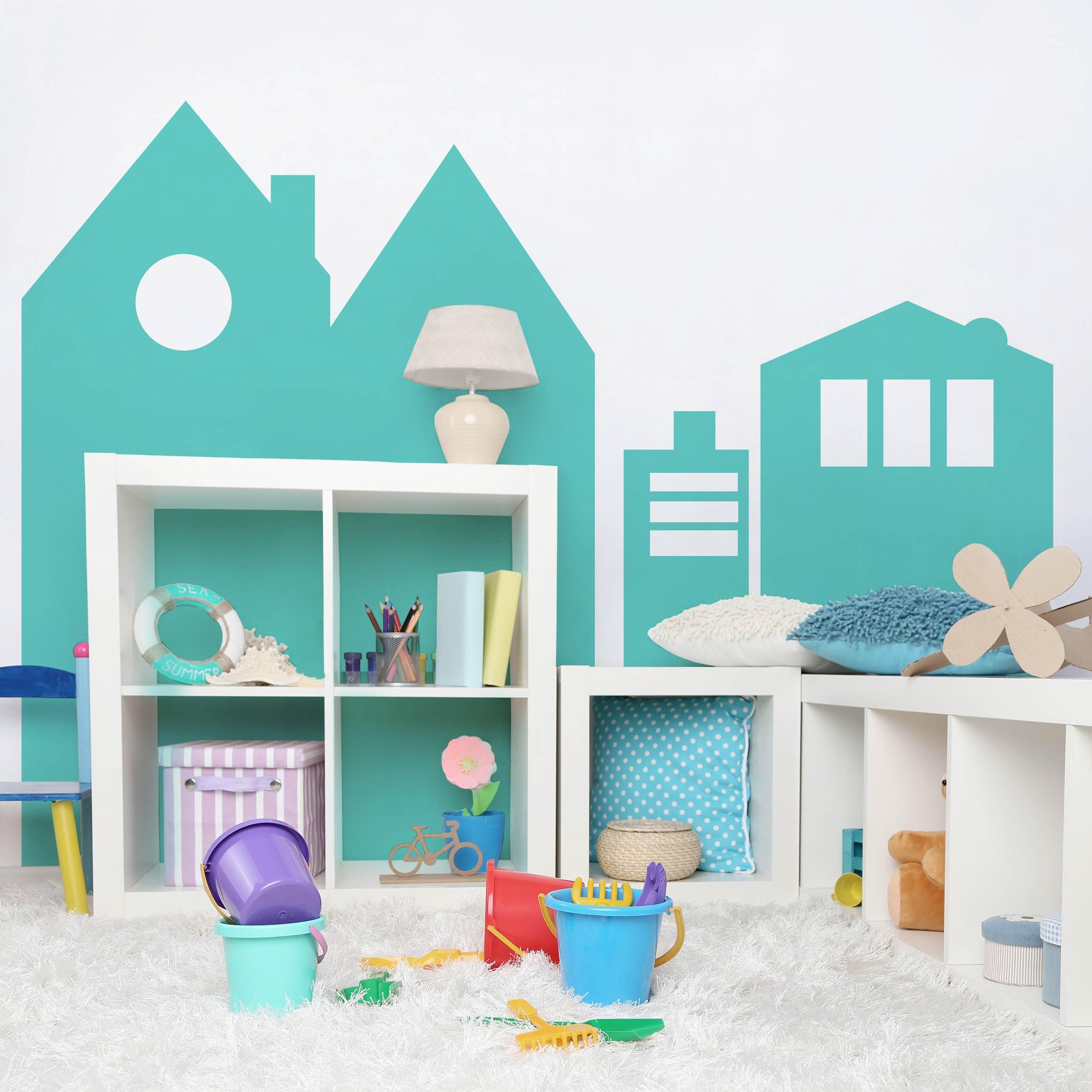 Carta adesiva per mobili colour turquoise - Carta adesiva colorata per mobili ...