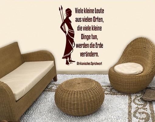 Produktfoto Wandtattoo Zitate - Wandzitate No.BR214 Afrika Spruch