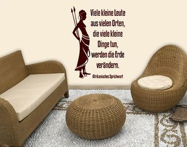 Product picture Wall Decal no.BR214 Afrika Spruch