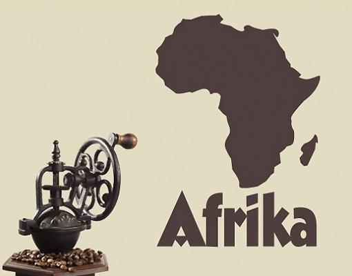 Produktfoto Wandtattoo No.UL197 Landkarte Afrika