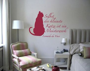 Product picture Wall Decal no.BR115 Da Vinci Katze