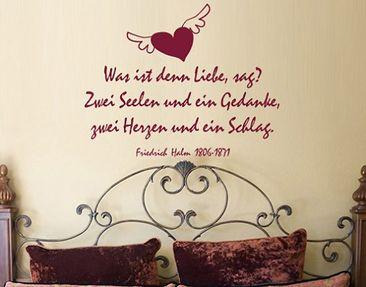 Produktfoto Wandtattoo Zitate - Wandzitate No.BR128 Was ist denn Liebe?