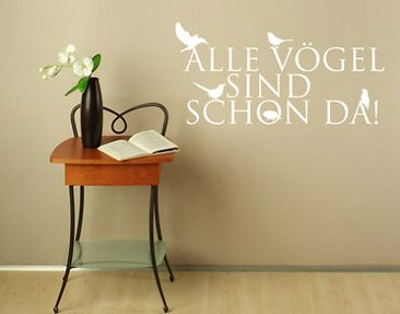 Produktfoto Wall Decal no.BR166 alle Vögel...