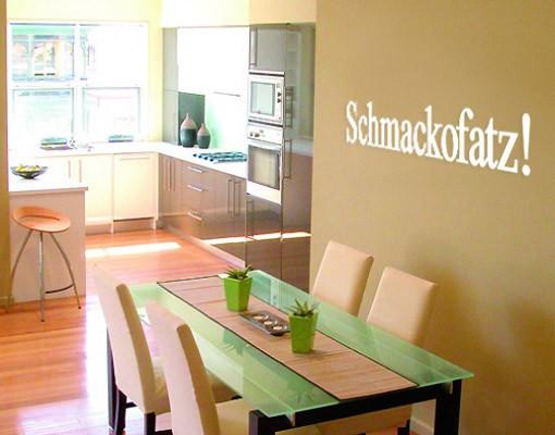 Produktfoto Wandtattoo Sprüche - Wandworte No.SF221 Schmacko