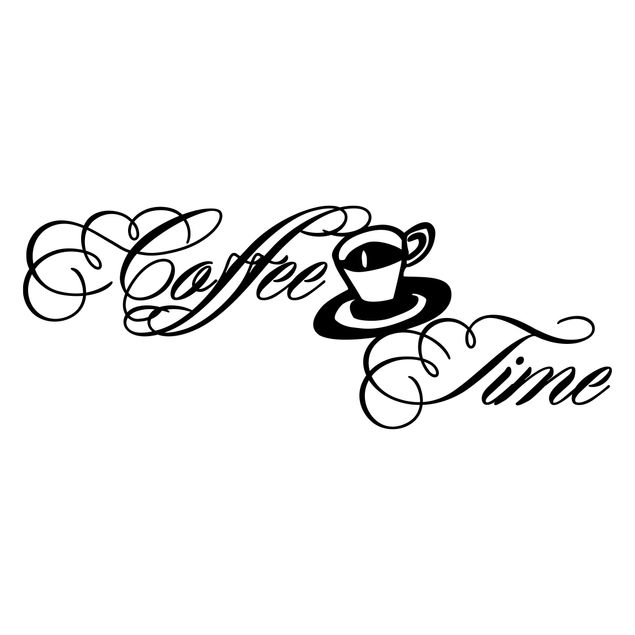 Produktfoto Wandtattoo Sprüche - Wandworte No.SF320 Coffee Time 6