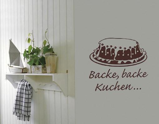 Produktfoto Wandtattoo Sprüche - Wandsprüche No.SF334 back backe