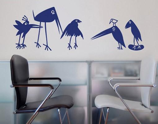 Produktfoto Wandtattoo Kinderzimmer Vögel No.SF126 Funny Birds