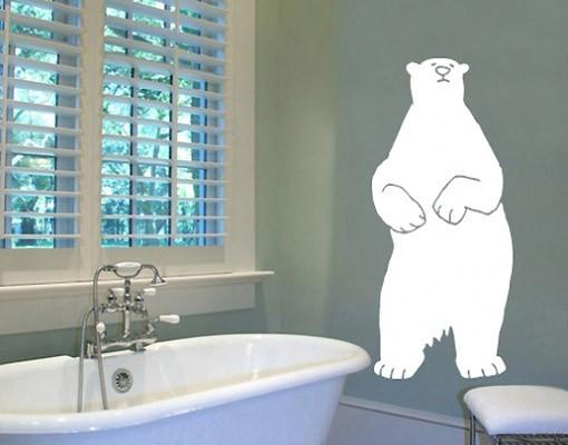 Produktfoto Wandtattoo Kinderzimmer Bär No.UL121 Eisbär