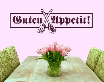 Produktfoto Wall Decal no.SF143 Guten Appetit!