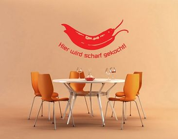 Product picture Wall Decal no.UL102 scharf gekocht