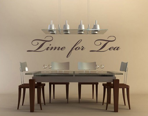 wandtattoo spr che wandworte no nh34 time for tea. Black Bedroom Furniture Sets. Home Design Ideas