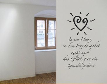 Product picture Wall Decal no.SF166 Freude im Haus
