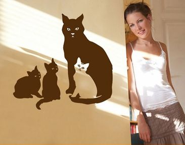 Product picture Wall Decal no.BR147 cats