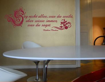 Produktfoto Wall Decal no.202 wisse was du sagst ..