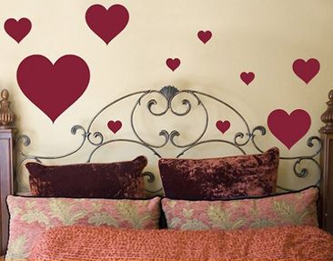 Produktfoto Wall Decal no.63 Ten Hearts