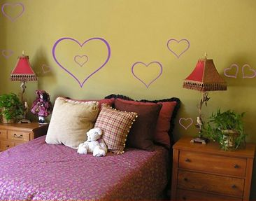 Produktfoto Wall Decal no.64 ten hearts