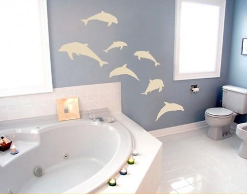 Produktfoto Wandtattoo Fische No.67 Sieben Delfine