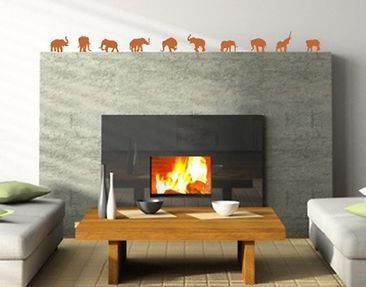 Product picture Wall Decal no.88 ten elephants
