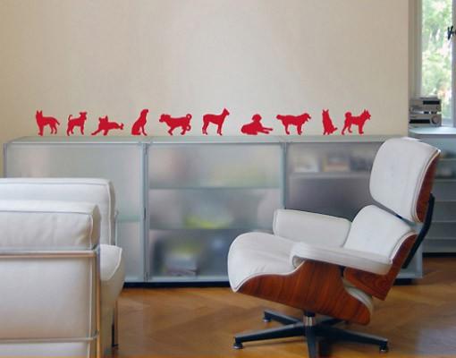 Produktfoto Wandtattoo Hund Katze No.91 Zehn Hunde