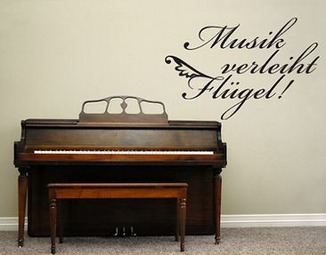 Product picture Wall Decal no.BR215 Musik verleiht...