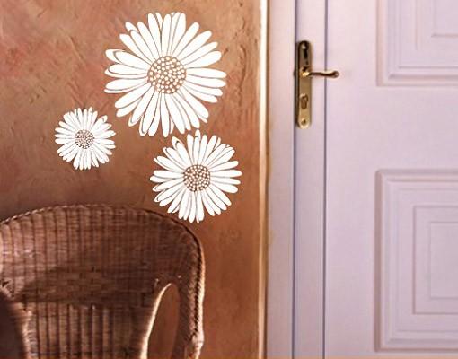 Produktfoto Wandtattoo No.UL140 Gänseblümchen - Blumen Set Blüten Frühling