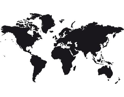 Produktfoto Wandtattoo No.191 Weltkarte