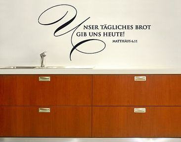 Product picture Wall Decal no.SF349 tägliches Brot