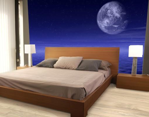Produktfoto Selbstklebende Tapete - Fototapete Moon...