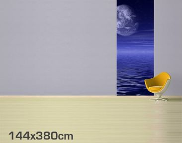 Product picture Photo Wall Mural Moon and Ocean